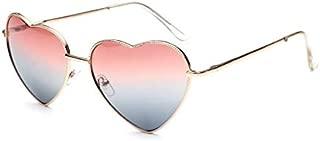 Fashion metal sunglasses personality Peach love heart shaped sunglasses