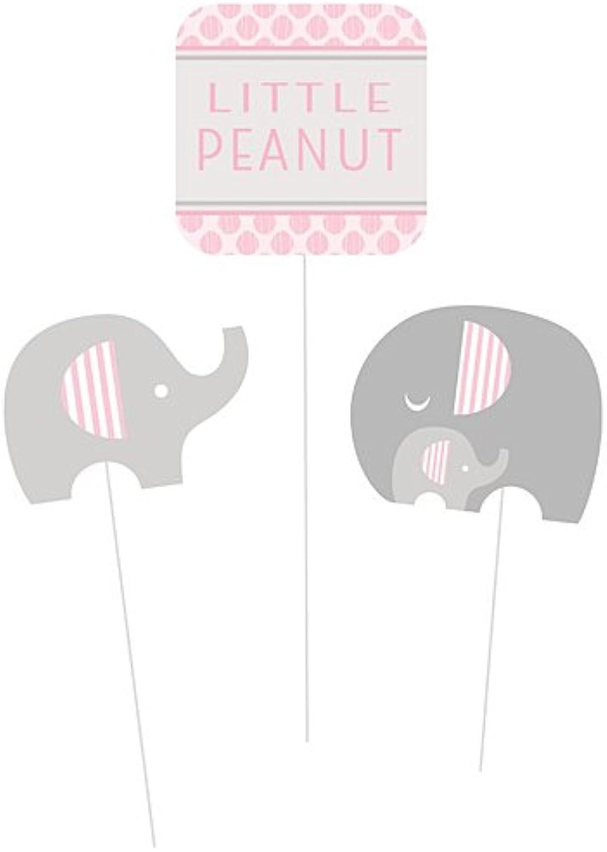 Creative Congreening 317228 Festive Little Peanut Girl Centerpiece Sticks, Multi Sizes, Pink, 3ct