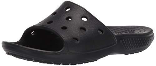 Crocs Classic Slide, Sandalias deslizantes, Black, 32/33 EU