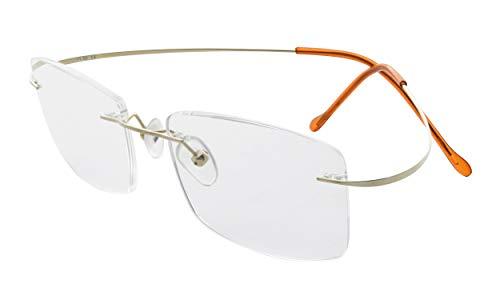 Eyekepper Occhiali da Vista in Titanio Senza Montatura Donna Uomo Oro