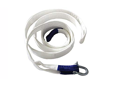 Best Deals! DHPTCS Tow Rope, 20/25/30 tons ,Heavy Duty Recovery Tow Straps with 2 Shackles, Perf...