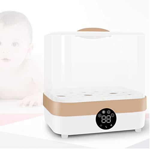 ZJM Flasche Baby-Sterilisator, 400W Babyflaschenwärmer Dampfsterilisator Und Trockner Digital-LCD-Display Muttermilch Nahrungsmittelheizung Mit Auto Power-Off
