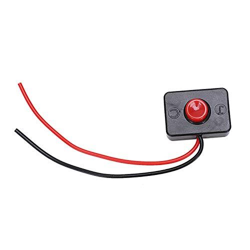 Gesh 10 x AC 250V 3A 2 cables de plástico momentáneo interruptor de botón para auto bocina
