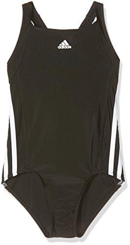 adidas Mädchen Essence Core Stripes Badeanzug,Schwarz (Black/White),Gr.164,(Herstellergröße:13-14 Jahre)