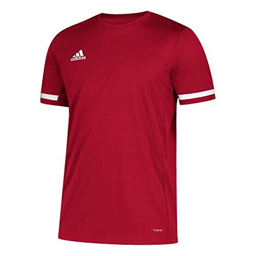 adidas T19 SS JSY M Camiseta de Manga Corta, Hombre, Power Red/White,...