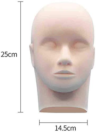 Mannequins de couture reglable Maquillage Head Plantation Intensification Mannequin Faux Cils Modèle Head Beauty Salon Maquillage Massage Porte vêtement Mannequin