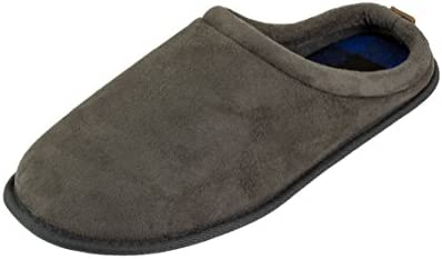 IZOD Men s Classic Slip on Clog Slippers Size 8 to 13 Small 7 8 D M US Grey product image