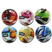ONE Flavor Waves Assorted Flavored Lubricated Latex Condoms-20 Count