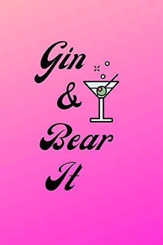 Gin & Bear It: Cute Pink Gin Notebook / Journal, 6