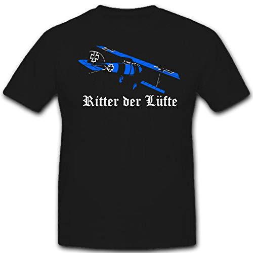 Caballero de la armadura WK Autobús albertos Richthofen Aire Arma de avión staffel Pilot West frontal Alemania–Camiseta # 1990 negro Small