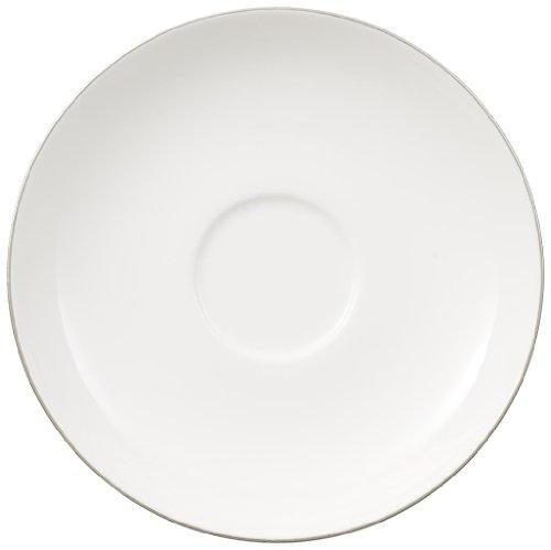 Villeroy & Boch 10-4636-1280 Anmut Platinum No. 1 Tee-Untertasse, Porzellan