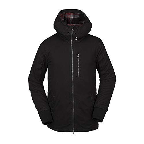 Volcom Men's Rovia Insulated Snow Jacket, Black, Extra Large
