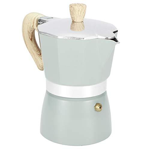 Estufa cafetera espresso 3/6 taza de espresso, olla de aluminio Moka cafetera italiana estufa cafetera superior cafetera percoladora(3 Cup/5 Oz)