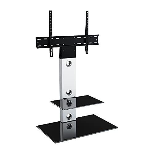 King Meuble TV Cantilever Support TV Intégré,pour Écrans de 32'' à 65'' LCD LED Plasma, H 117.7 cm