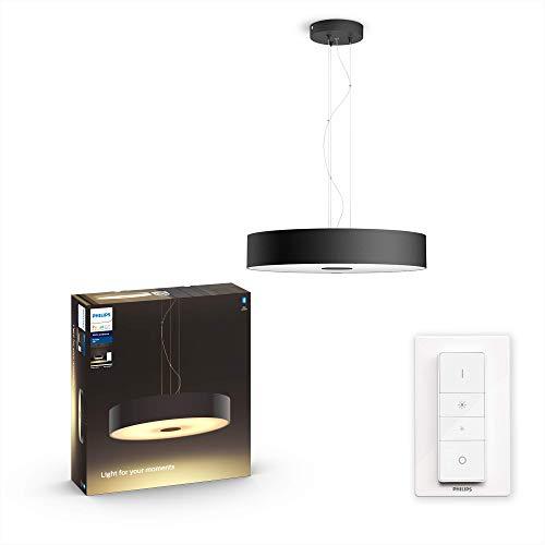 Philips Hue White Amb. LED-Pendelleuchte Fair inkl. Dimmschalter, schwarz, dimmbar, alle Weißschattierungen, steuerbar via App, kompatibel mit Amazon Alexa (Echo, Echo Dot), 915005913001