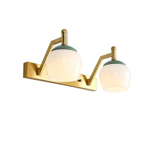 LongLong Moderna lámpara de Pared con Bola de Cristal Magic Bean Globe Aplique de Pared de latón Molecular para Restaurante Sala de Estar Cuarto de baño Espejo Faros de cabecera (2 Luces)
