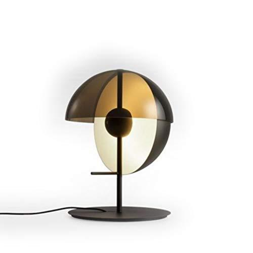 Lámpara de sobremesa LED 11,3W con difusor de metacrilato Opal, Modelo Theia M, Color Negro, 32 x 32 x 43,5 centímetros (Referencia: A672-002)