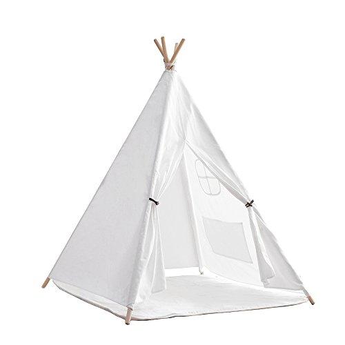 little dove Tienda de campaña india Tipi/tienda de campaña para niños – Tienda de campaña de algodón natural con colchón