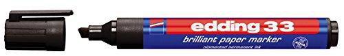 Edding 33 pigmentmarker Brilliant - papier marker, navulbaar, 1-5 mm 1-5 mm zwart