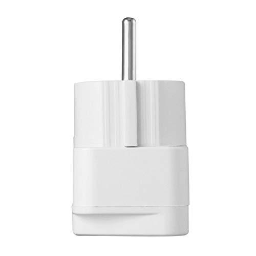 Ymxcwer85851 Adaptador Universal Enchufe eléctrico para AU EE. UU. Reino Unido a UE Enchufe de alimentación de CA Adaptador convertidor de Enchufe de Viaje para el hogar Blanco (Blanco) EU
