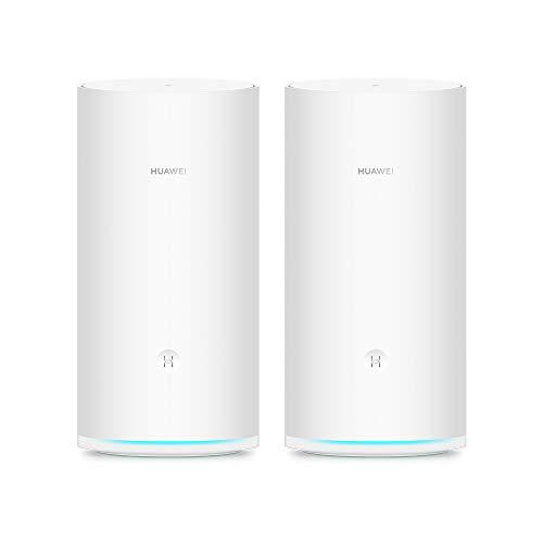HUAWEI WiFi Mesh (2-pack) , Router Wi-Fi Mesh a Tre bande, HUAWEI Share, CPU Quad-core da 1.4 GHz,...
