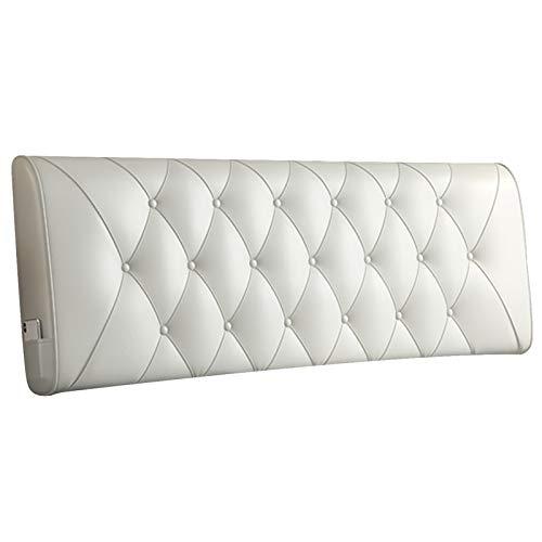 LXLIGHTS Reading Pillow Cushion, Confortable Ergonomically Design Wedge Headboard, Convenient Pockets Design Bedside Cushion, Customizable (Color : B-White, Size : 160x60cm)