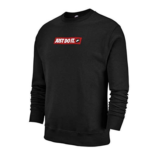 Nike Sportswear Just Do It Crew Fleece Sweatshirt Herren schwarz, XXL