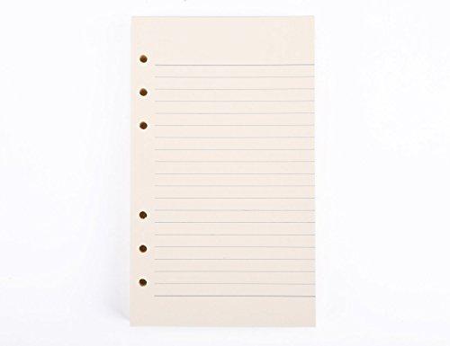 VALERY - Liniertes Notizpapier I Nachfüllseiten für A6 Tagebücher, Notizbücher I Nachfüll-Inlays inkl. 100 Blätter x 200 Seiten I A6 Papier zum Nachfüllen I Säurefreies Papier