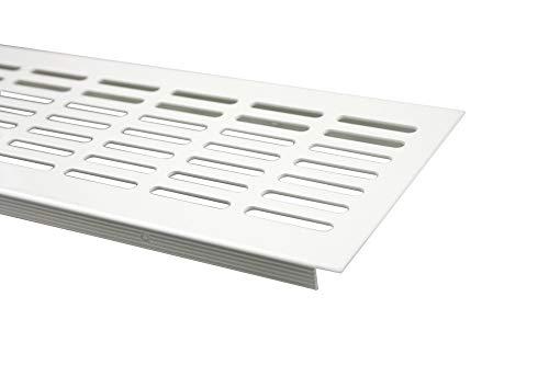MS Beschläge ® Aluminium Lüftungsgitter Stegblech Heizungsdeckel 100mm x 1200mm verschiedene Farben (Weiß - RAL 9010)