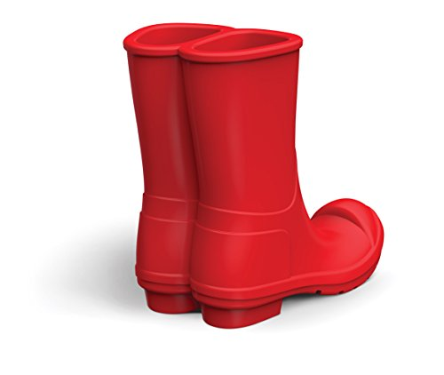 Genuine Fred 5216342 REBOOT Silicone Rain Boots Mobile Phone Stand, Red