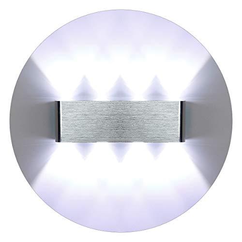 KAWELL Moderno Luz de Pared LED Apliques de Pared Aluminio Lámpara de Pared LED Interior para Dormitorio, Pasillo, Sala de Estar, Escaleras, KTV, Blanco LED de 16W