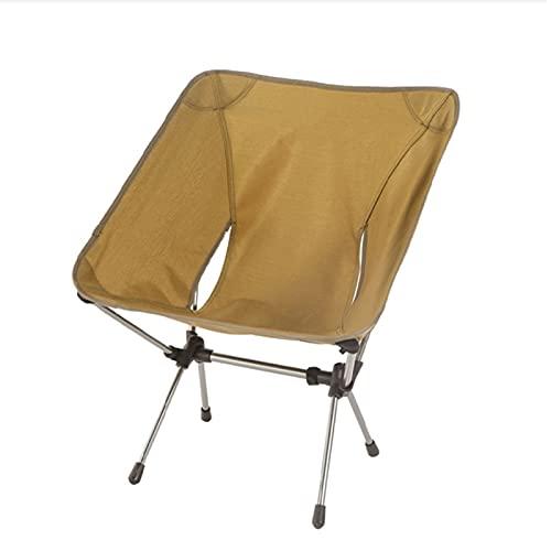 Silla Camping Silla de camping de estilo libre al aire libre Playa plegable Playa Silla de luna para acampar, mochilero, Senderismo, Pesca (de espalda baja en khaki) Silla camping plegable