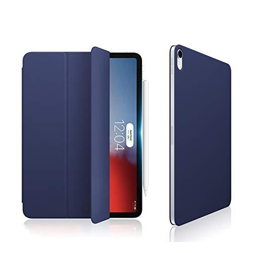 Ktong Funda Protectora para Tableta para iPad Pro 2018 de 11 Pulgadas, Cubierta Liviana para Soporte de Tableta con Ranura para lápiz y función de activación/suspensión automática,Azul