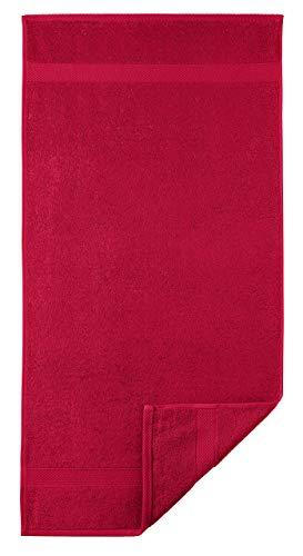 Egeria 2010450 Diamant Handtuch, Baumwolle, china rot, Größe 50 x 100 cm