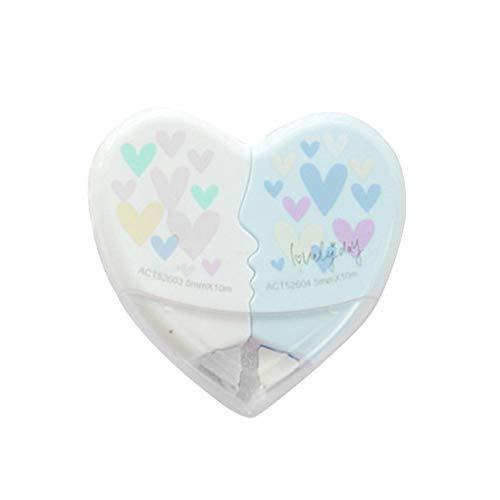 Bobury 2 pc/accoppiamenti 10m di amore del cuore di correzione nastro di plastica di cancelleria Correttore regali degli allievi dell'ufficio School Supplies