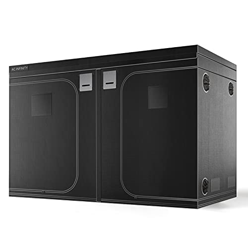 AC Infinity CLOUDLAB 811 Advance Grow Tent, 10x10 with Thicker 1 in. Poles with Higher Density 2000D Diamond Mylar Canvas, Controller Mount for Hydroponics Indoor Growing, 120' x 120' x 80'