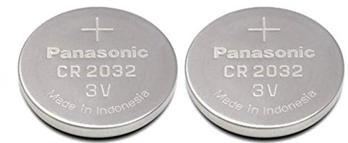 Panasonic CR2032 3V Lithium Coin Battery (Pack of 2)