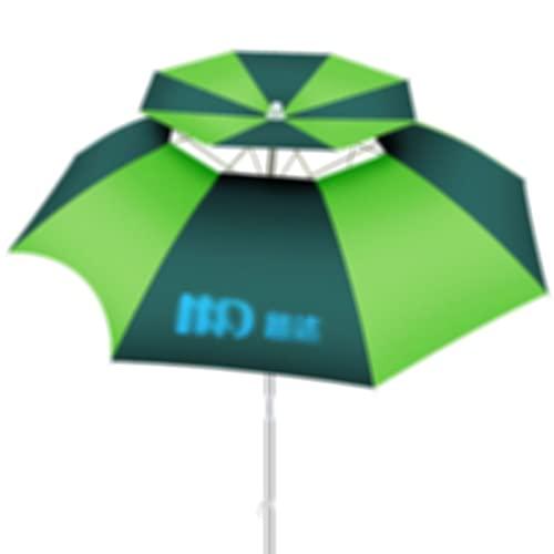 YINGTAO22-SHOP ombrellone Mare Ombrello all'aperto Ombrello Antiscivolo antainproofiscreen Grande Verde ombrellone Pieghevole Pesca da Pesca Ombrello da Pesca (Size : 2.0m)