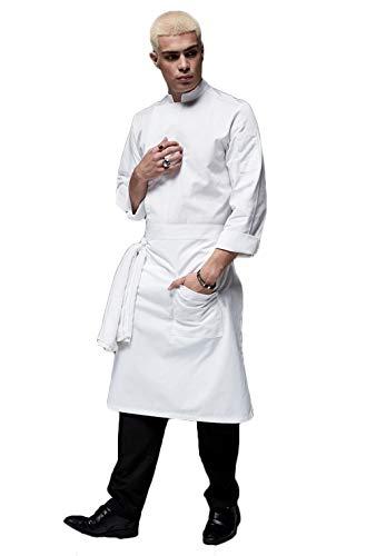 WYCDA kookjack wit grijs zwart lange mouwen katoen keuken hotel kookkleding uniform beroepskleding milieuvriendelijk meerdere kleuren kostuum kostuum