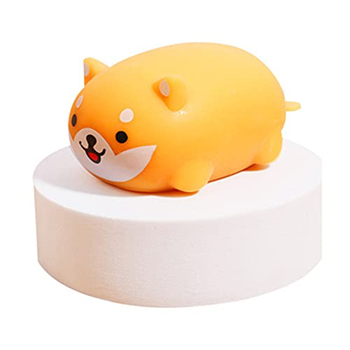 Squishy Dog Buns Style with Steamer,Slow Rising Squishies Dog Soft and Scented Squeeze Dog Ball Stress Relief for Adults Kids Gift Bag Fillers