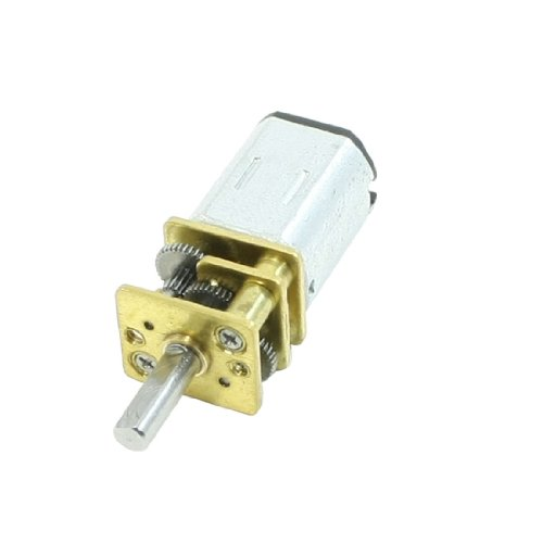uxcell DC 6V 100RPM 2 Terminals Rectangle Permanent Magnet Electric Geared Motor