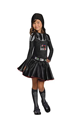Disfraz de Darth Vader para niñas de Star Wars, libro de películas, día de la semana, disfraz para niños – grandes edades 8 – 10
