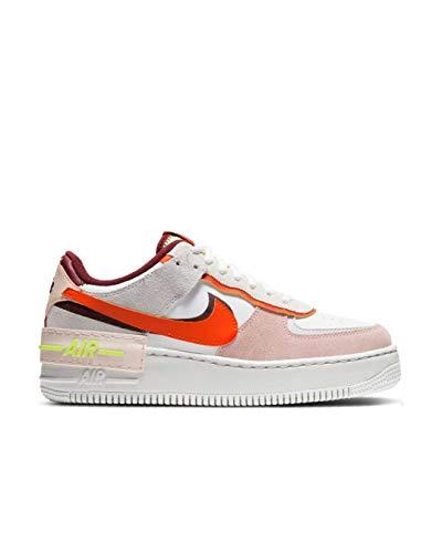 Nike Damen W Af1 Shadow Basketballschuh, Team Red Orange Orange Pearl Volt Summit White Photon Dust, 40.5 EU