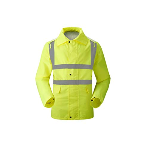 ZNZN Ciclismo Traje reflexivo, Tela Oxford Seguridad Chaleco Reflectante de Alta Visibilidad Lluvia Equipo de Seguridad a Prueba de Agua y Monos Chalecos de Seguridad
