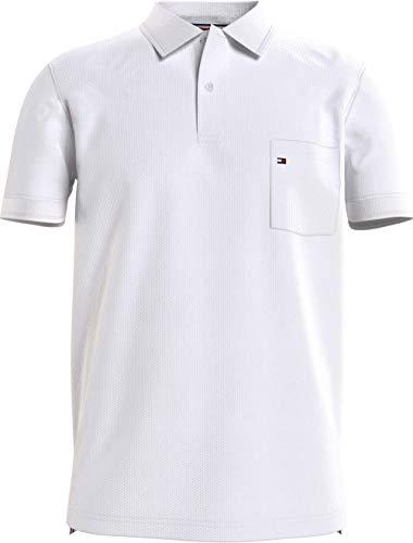 Tommy Hilfiger Structured Pocket Regular Polo, Bianco, S Uomo