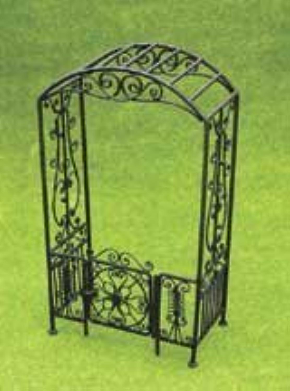 Dollhouse Miniature schwarz Filigree Arbor with Gate by Aztec Imports, Inc.