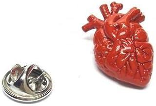 Distintivo spilla anatomica cuore rosso chirurghi