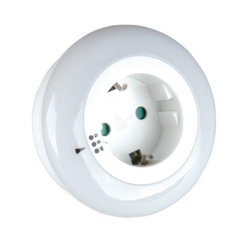 UNITEC 41677 Nachtlicht, rund als Zwischenstecker Farbwechsel LED