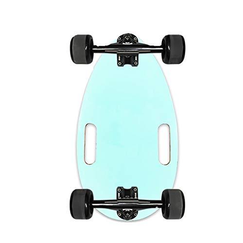 Kurze Longboard Skateboard Deck mit Genauigkeitslagern und Rugged Rädern, Mini Cruiser Skateboard für Anfänger Kinder Jugendliche und Erwachsene (Color : E)