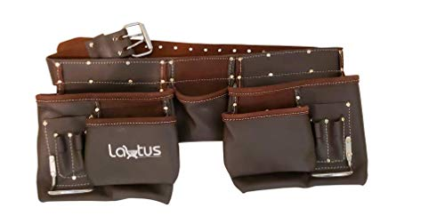 LAUTUS Oil Tanned Leather Tool Belt/Pouch/Bag